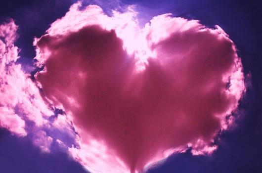 pink heart cloud