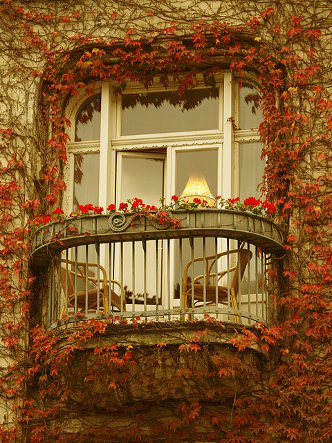 autumn on french balcony