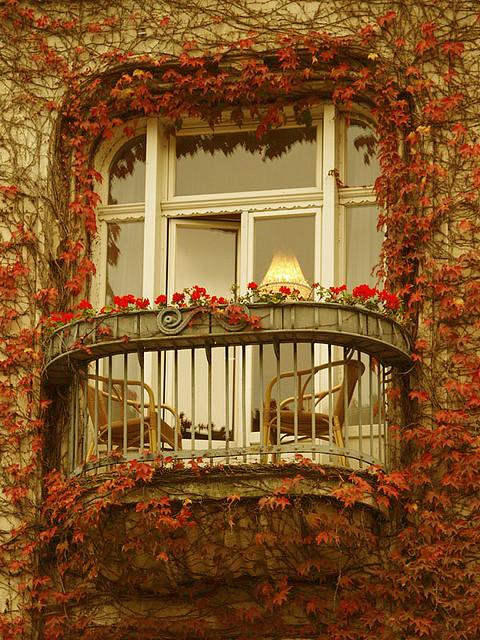 autumn on french balcony