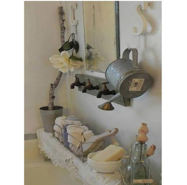 bathroom decoration with three faucets