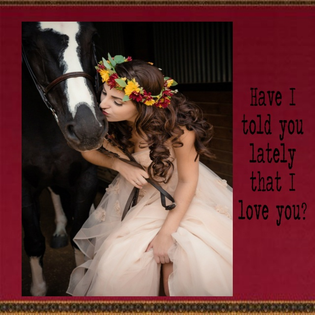 bride with horse 2