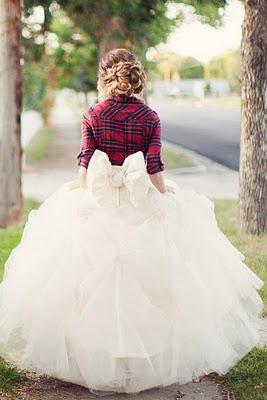 flannel clad bride