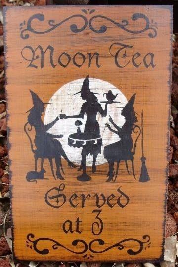 moon tea served at three