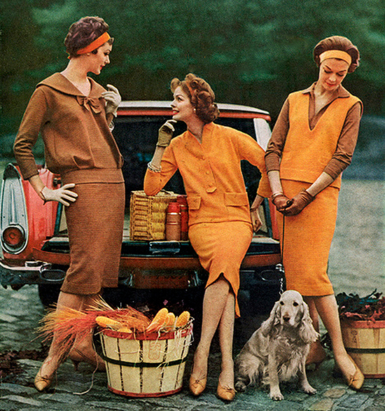 fall fashion from the fifties