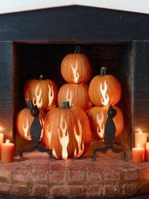 pumpkin fireplace