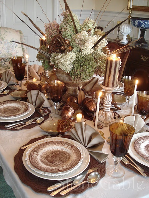 thanksgiving Day table drcor