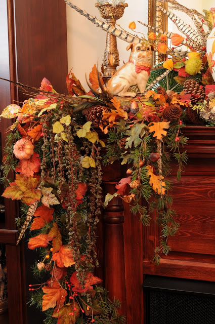 thanksgiving mantlepiece decor (2)