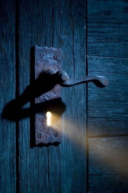 door with keyhole