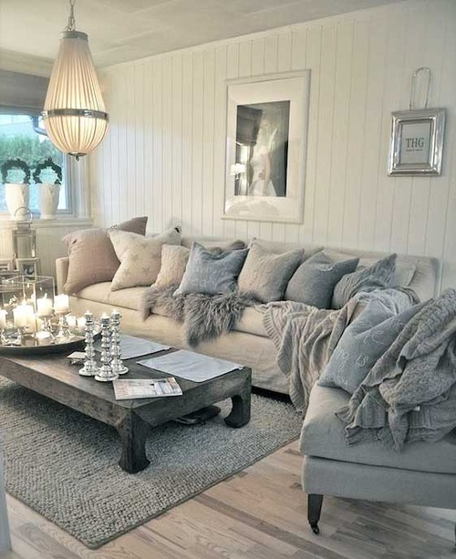 gray blue living room