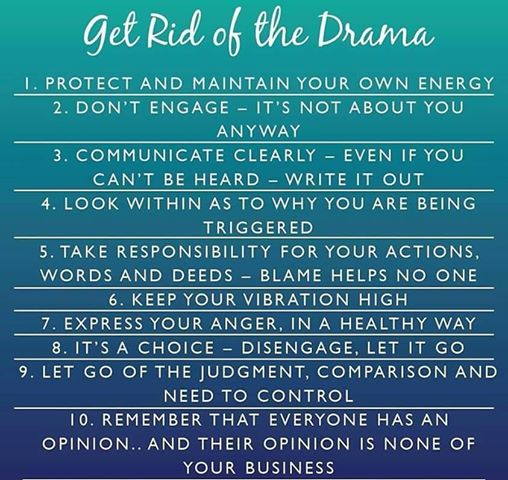 get rid of the drama